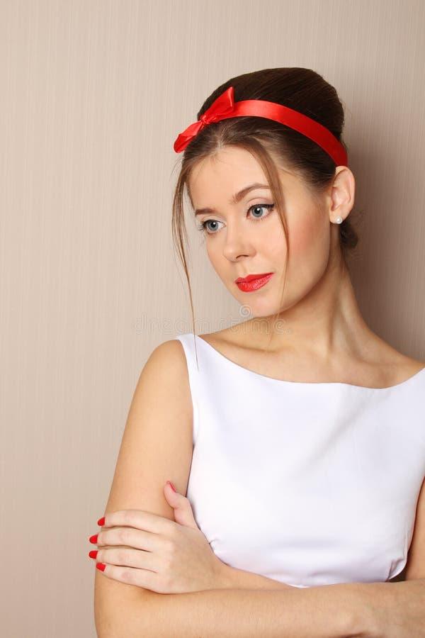 Pin Up beautiful woman stock photos