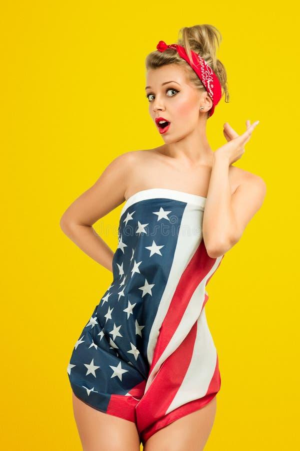 Pin-Up fashion model stock image