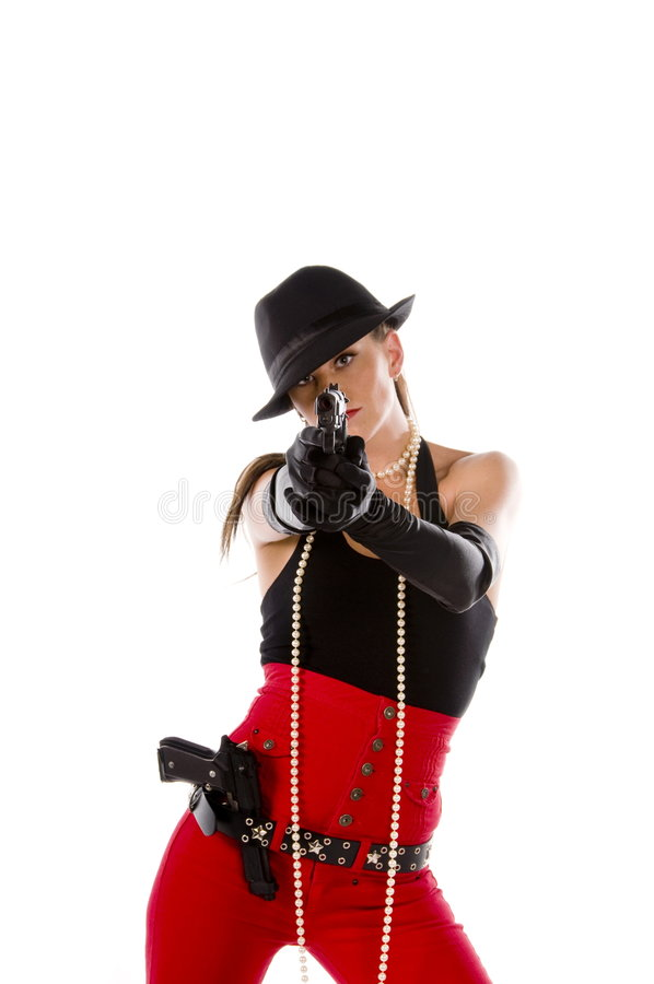 Pin Up Gangster Royalty Free Stock Photo