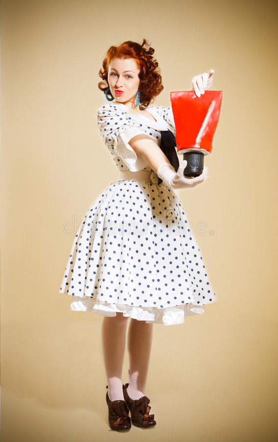 Download Pin-up girl stock photo. Image of female, pose, white - 24307668