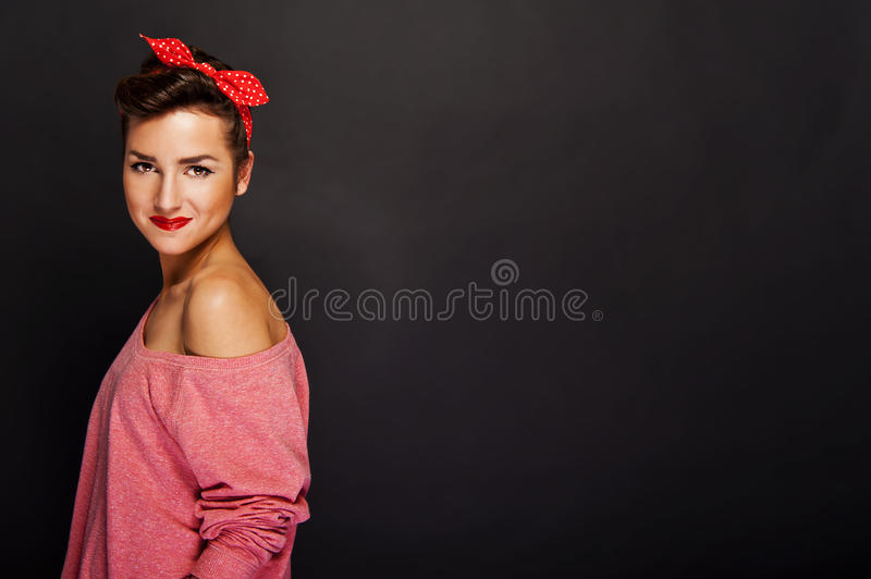Download Pin up girl stock image. Image of glamour, pinup, fashionable - 29605065
