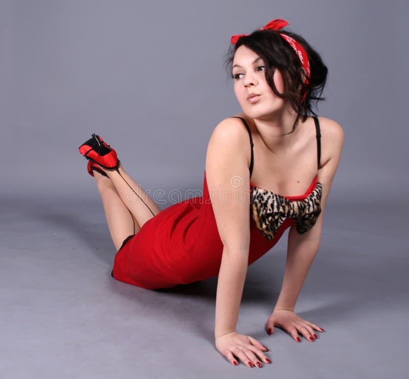 Pin-up-Girl stockfoto