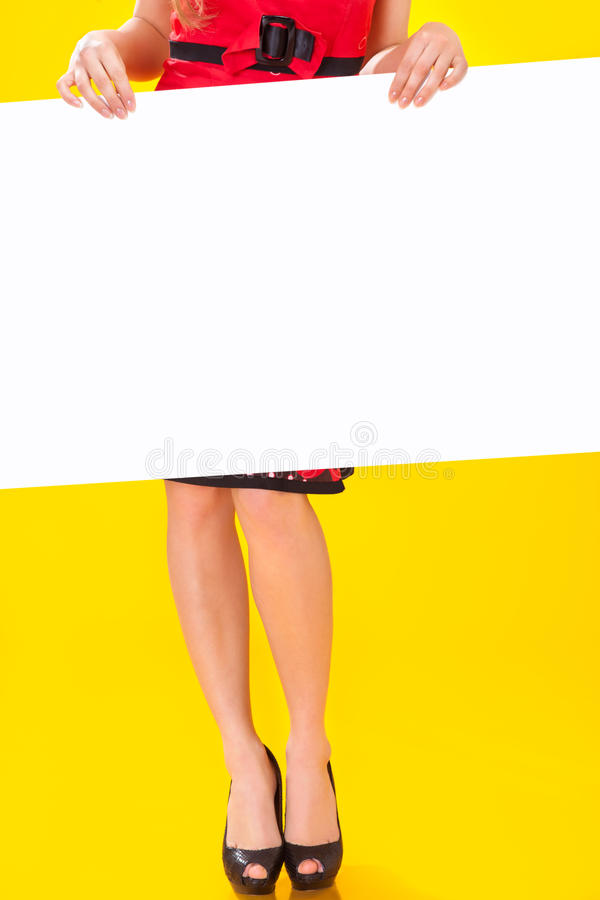 Pin-up girl in american style stock photography