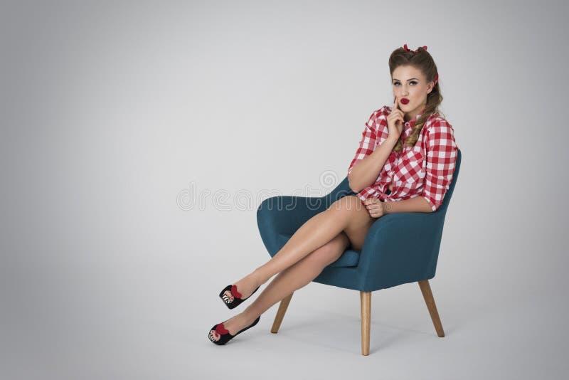Pin-up girl royalty free stock photos