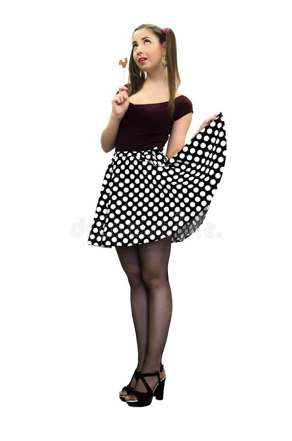 Pin-up girl. stock images