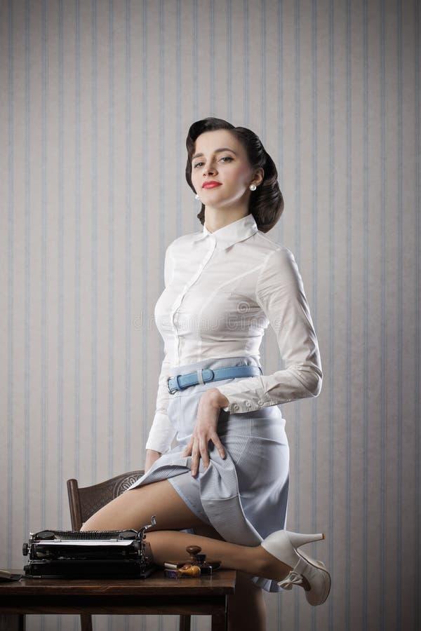 Pin Up Girl Secretary Stock Image Image Of Revival -5000