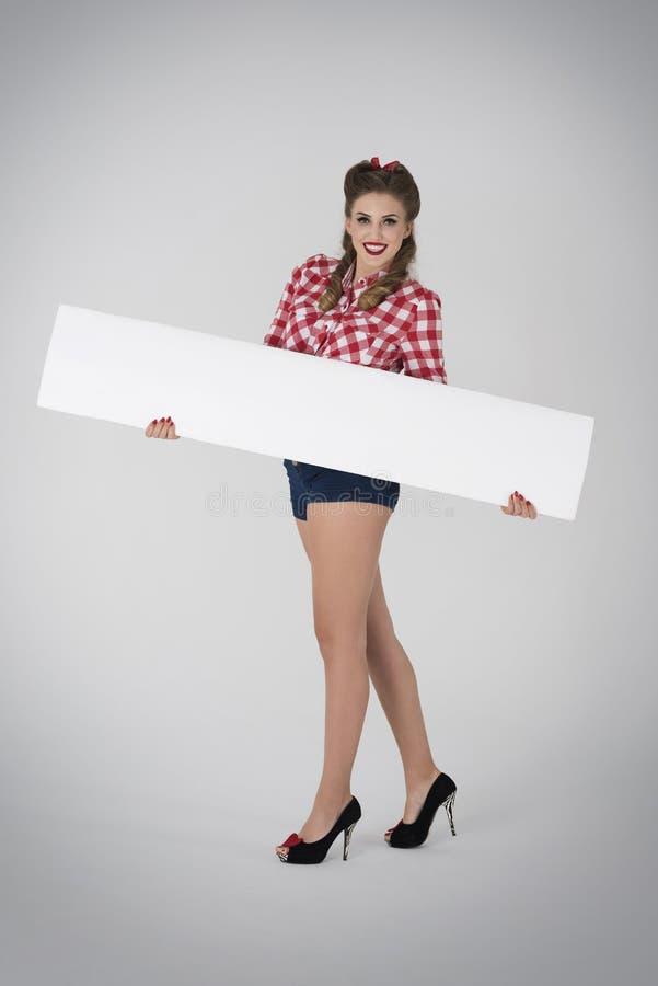 Pin-up girl royalty free stock image