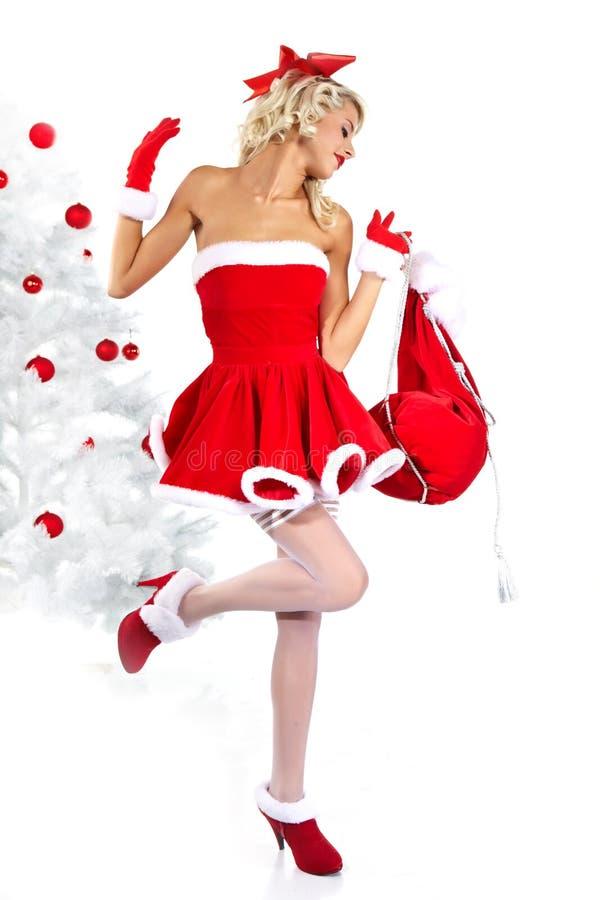 Pin Up Girl Wearing Santa Claus Clothes Stock Image Image 21866513
