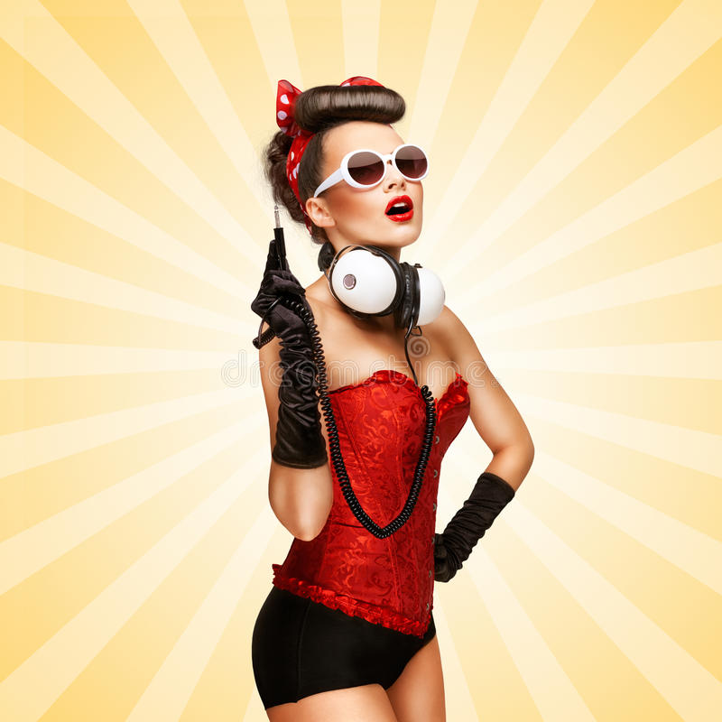 Pin-up party. stock illustration