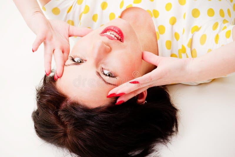 Download Pin-up portrait stock photo. Image of fashion, fine, beautiful - 24939378
