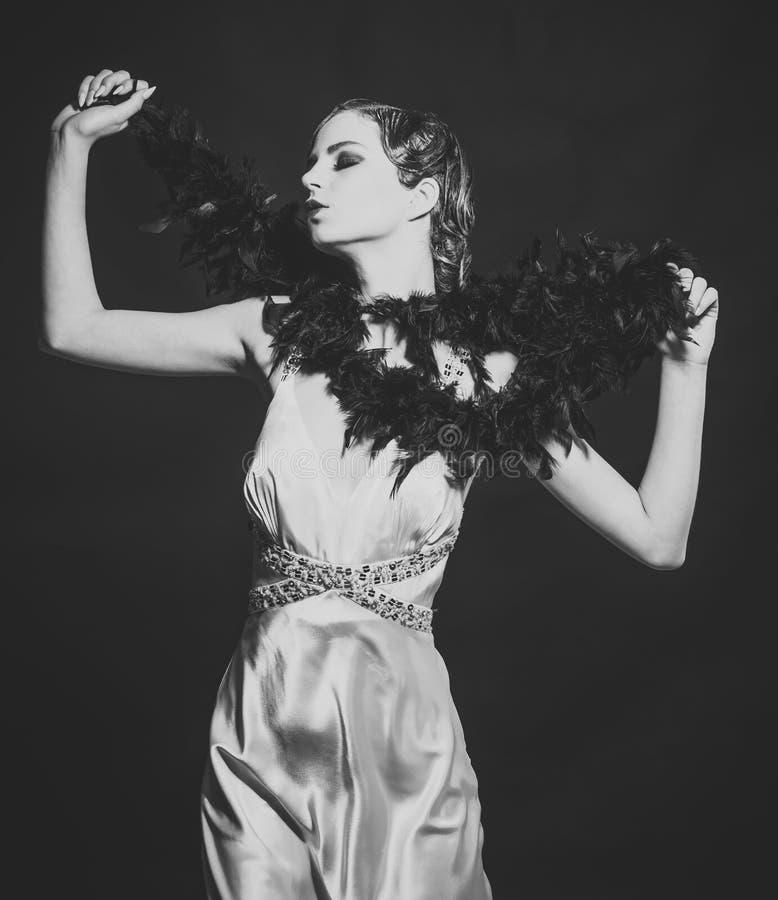 Black Fashion Models Poses: Pin Up Pretty Fashion Model Pose On Black Background