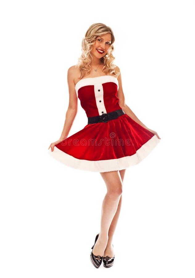 Download Pin up santa girl stock photo. Image of costume, young - 21312428