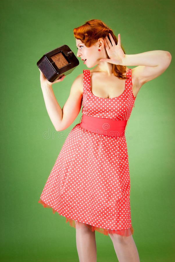 Pin-up Style Girl Royalty Free Stock Image