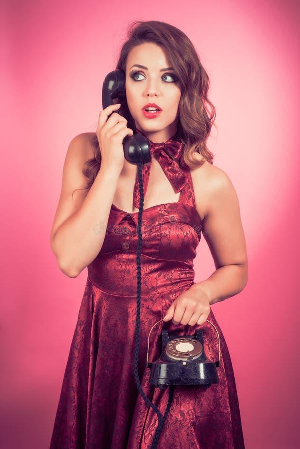 Pin Up Vintage Telephone fotografia de stock