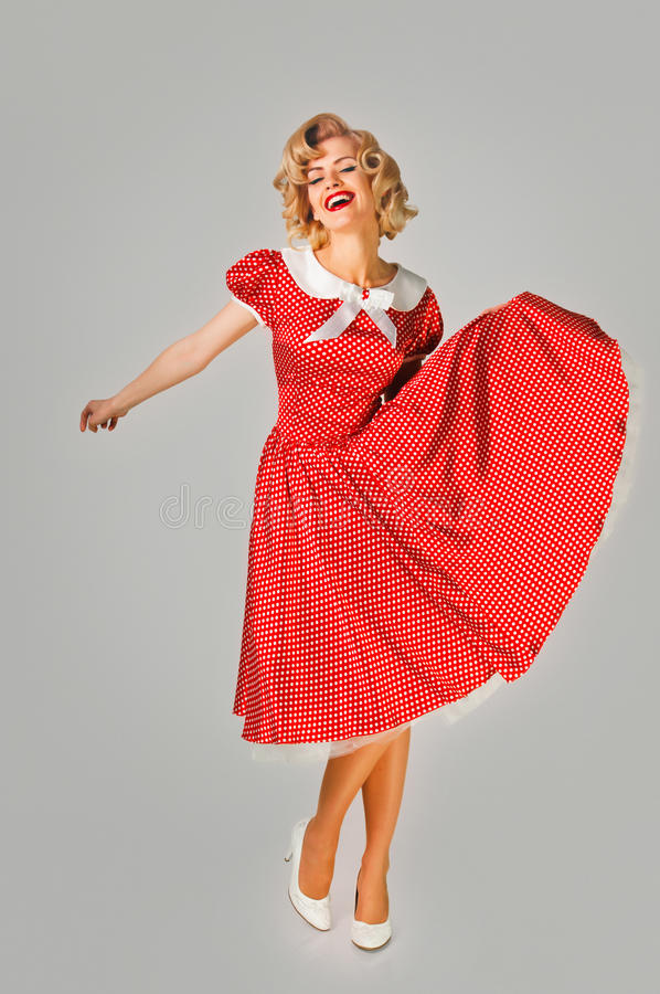 Pin up woman full length royalty free stock photography