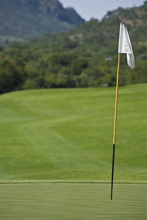 Pin, verde & fairway fotos de stock royalty free