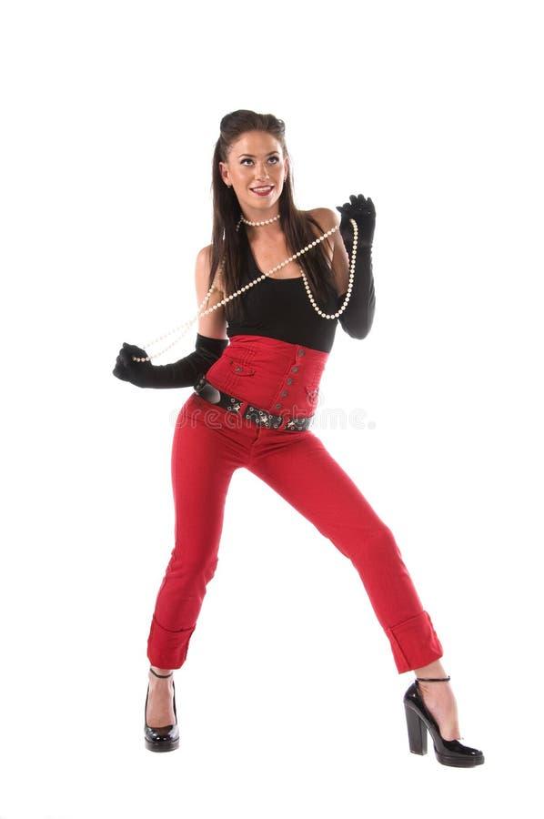 Pin vers le haut dans le pantalon rouge photos libres de droits