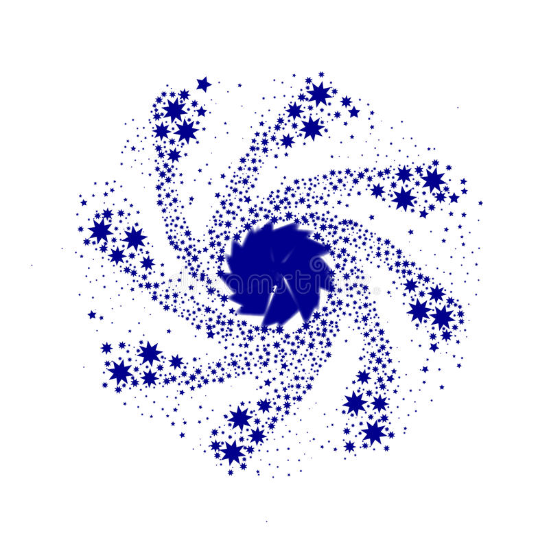 Pin Wheel azul ilustração royalty free