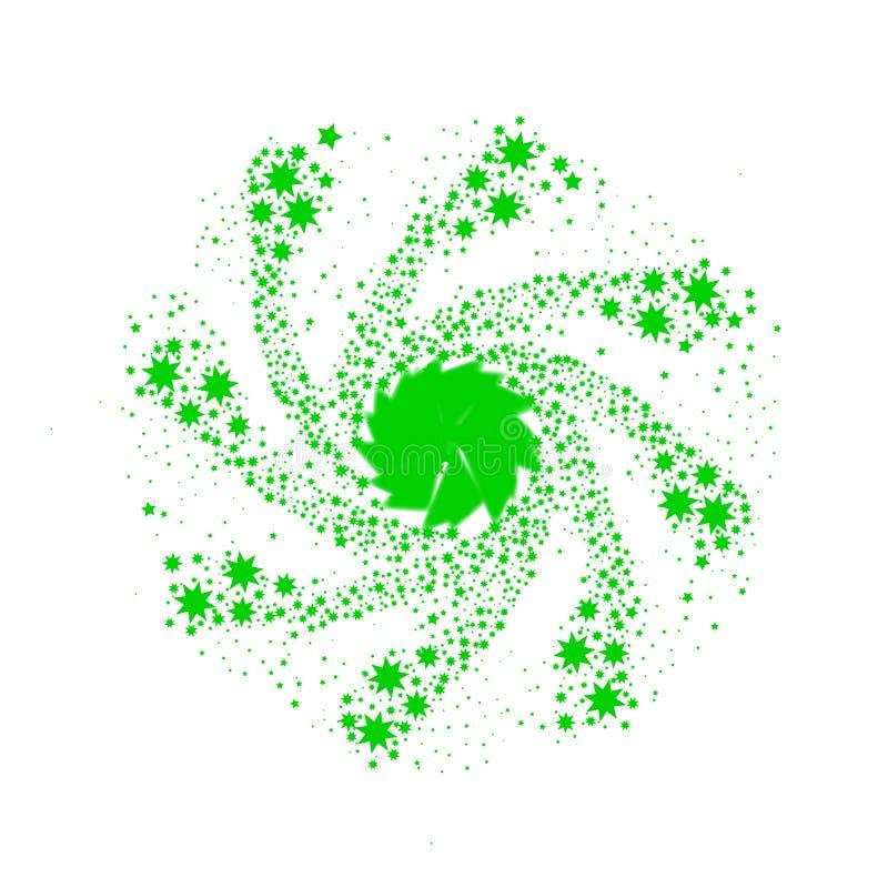 Pin Wheel verde illustrazione vettoriale
