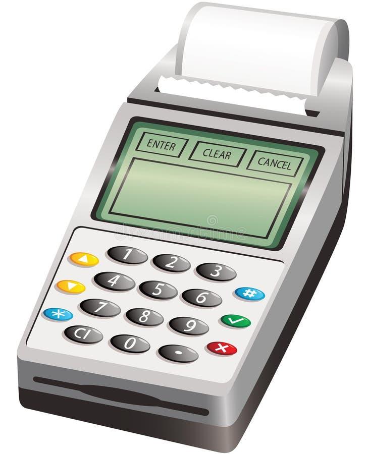 PIN wireless card reader vector illustration
