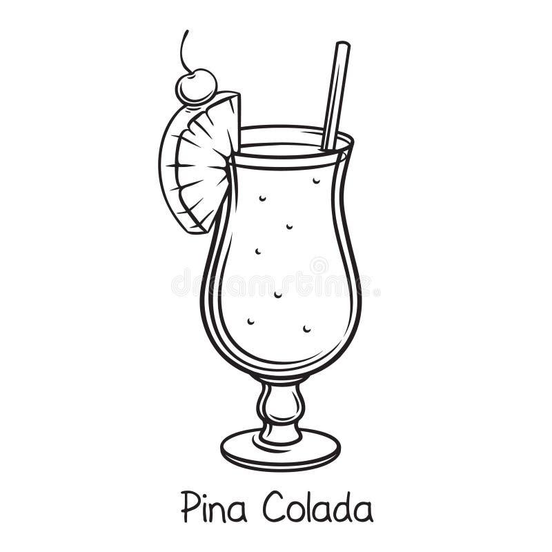 Pina Colada Cocktail royalty illustrazione gratis