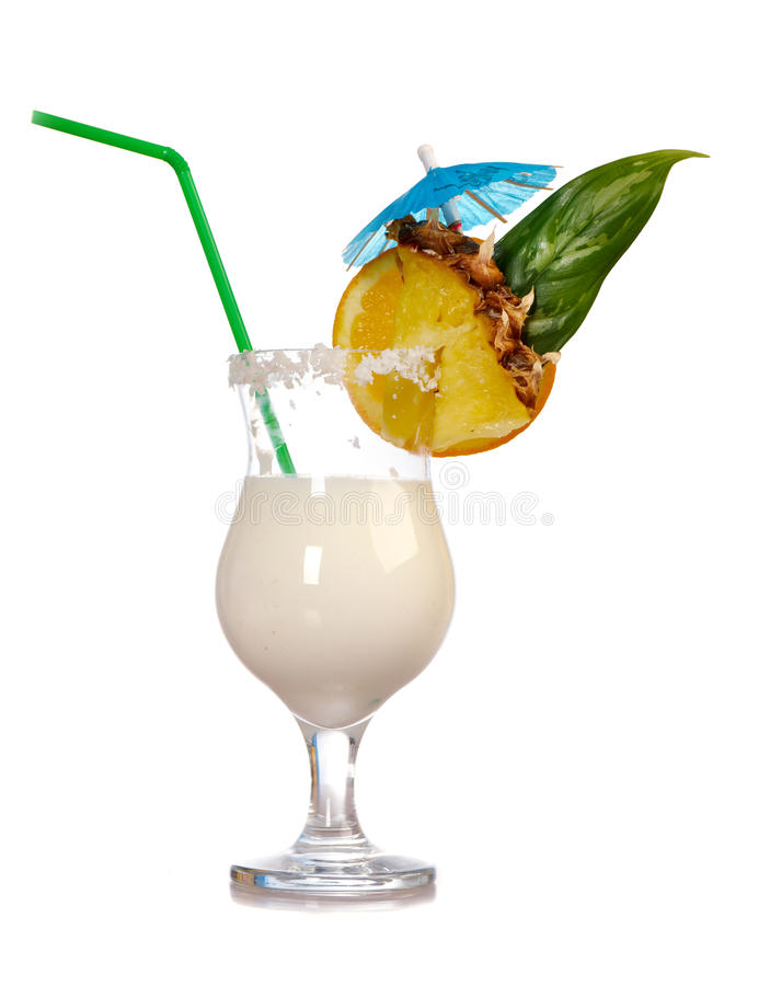Pina Colada - Cocktail With Cream Stock Photography