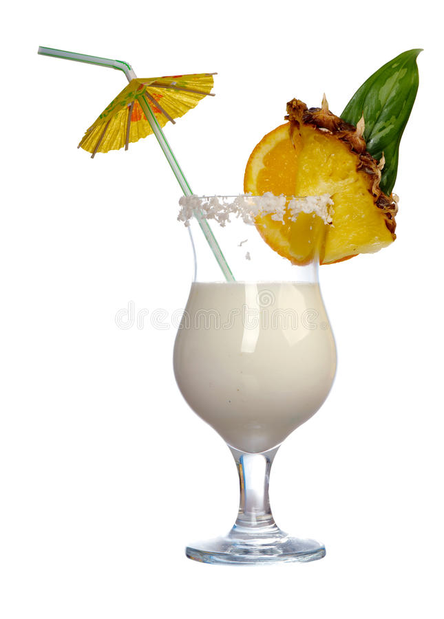 Pina Colada - Cocktail met Room stock afbeelding