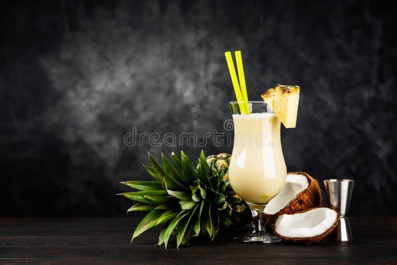 Pina Colada Cocktail imagem de stock