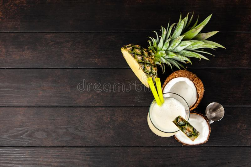 Pina Colada Cocktail imagem de stock royalty free