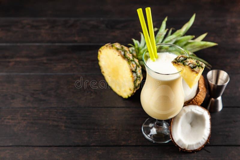 Pina Colada Cocktail fotografie stock libere da diritti