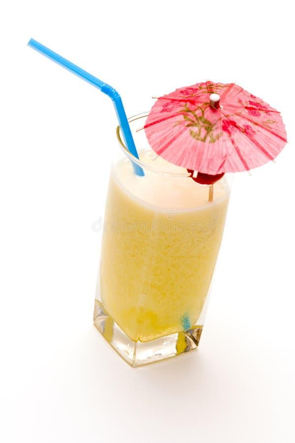 Pina colada cocktail with umbrella stock photo