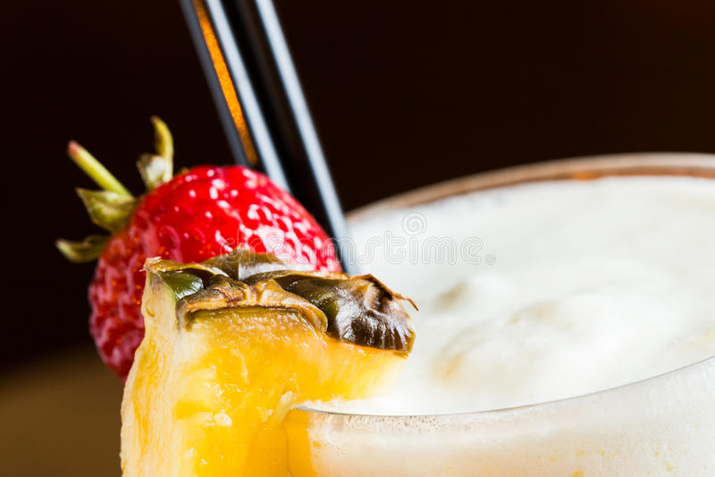 Pina colada. Detail of pina colada in a night pub stock photos