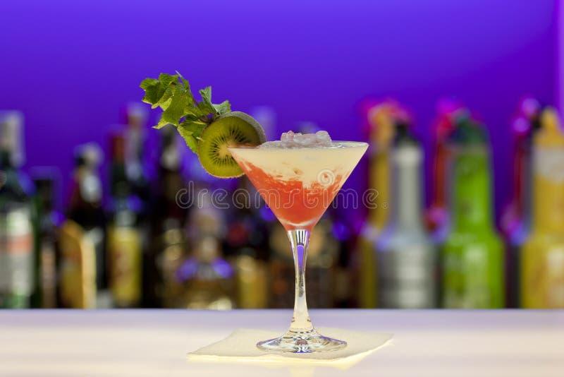 Pina collada cocktail at the bar royalty free stock photo