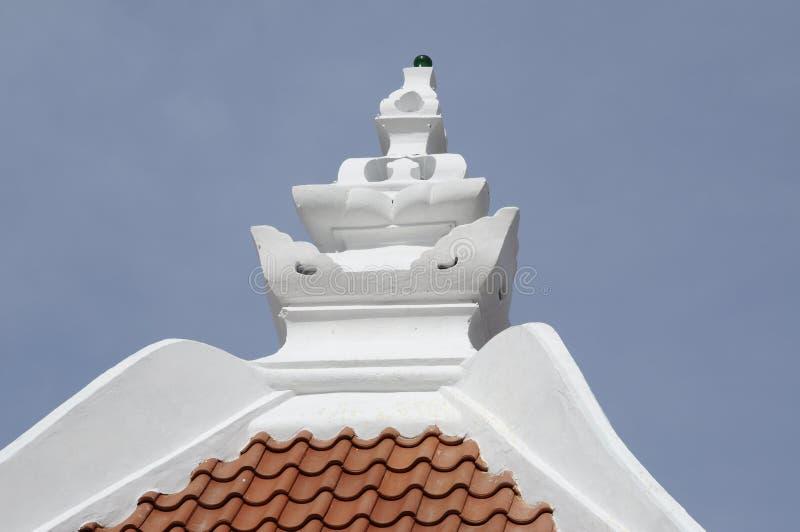 Pinaccle de Masjid Kampung Hulu au Malacca, Malaisie photo stock