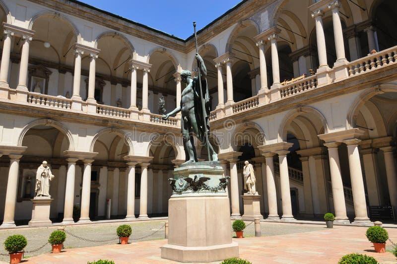 pinacoteca för breradimilan museum arkivbild
