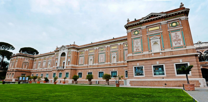 Pinacoteca Vaticana в Ватикан стоковое изображение
