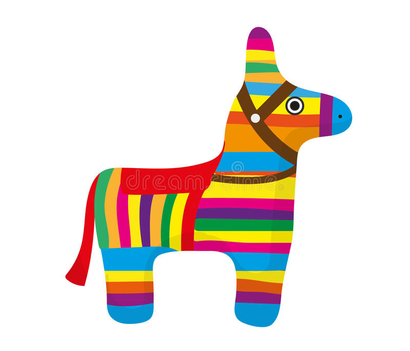 pinata icon flat style donkey colorful on white background rh dreamstime com mexican pinata clipart cute pinata clipart