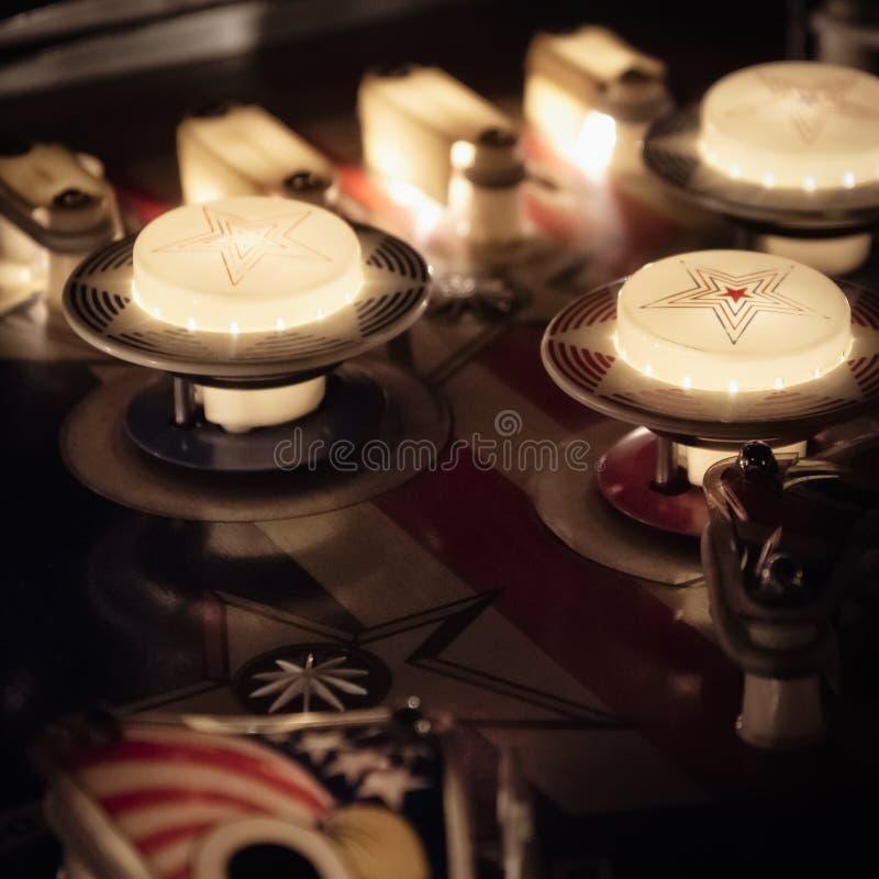 Pinball Maszynowego stołu szczegół zdjęcie royalty free