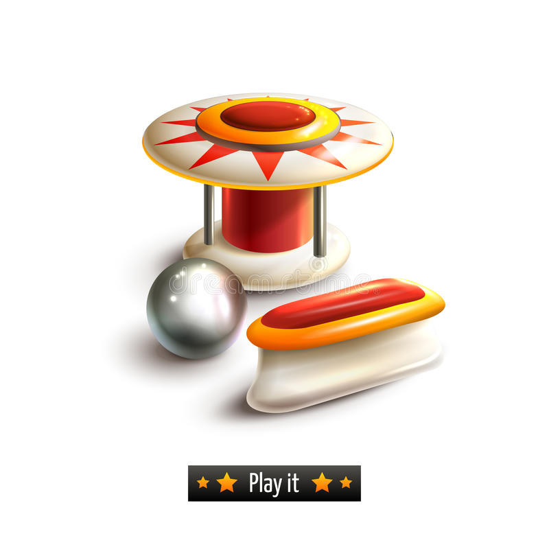 Pinball set isolated royalty free illustration