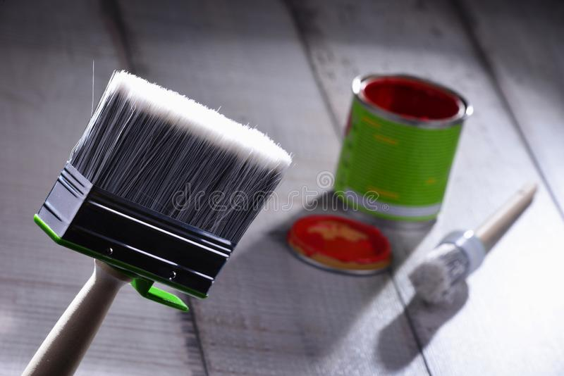 Pinceau de taille moyenne pour les buts de décoration à la maison photo stock