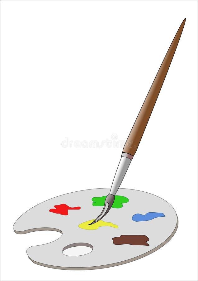 Pinceau et palette images libres de droits