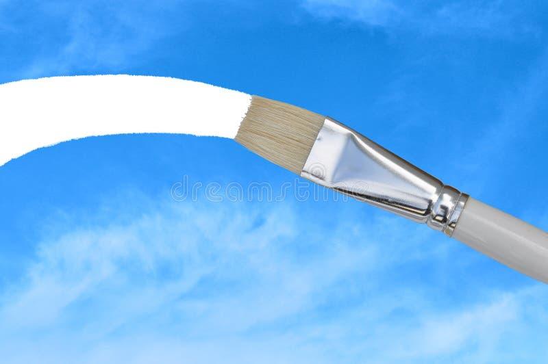 Pinceau sur le ciel photographie stock libre de droits
