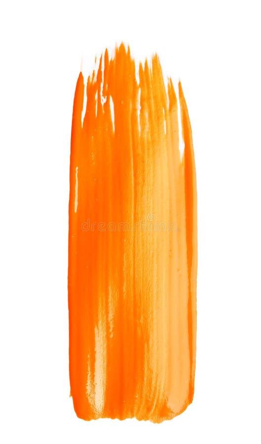 Pincelada abstracta de la pintura anaranjada foto de archivo libre de regalías