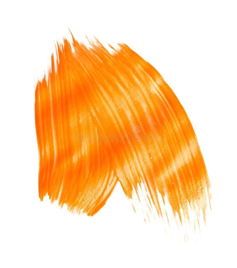 Pincelada abstracta de la pintura anaranjada imagen de archivo libre de regalías