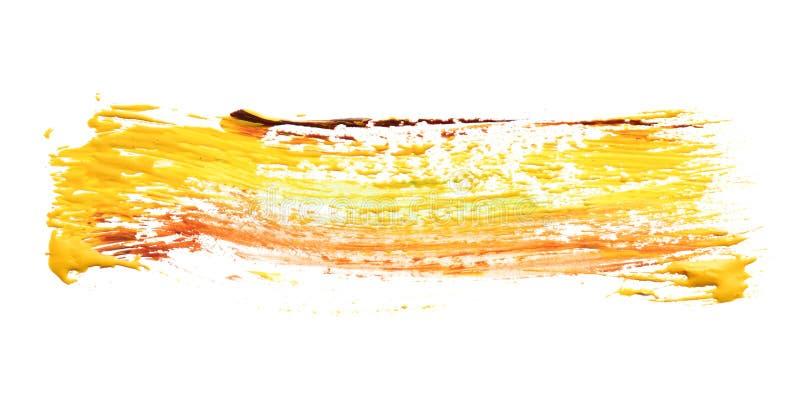 Pincelada abstracta de la pintura mezclada del color en blanco imagen de archivo