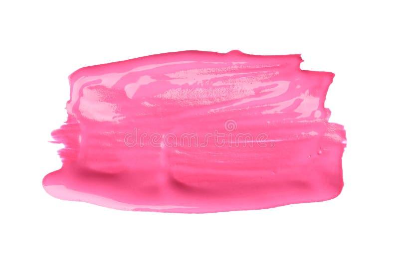Pincelada abstracta de la pintura rosada imágenes de archivo libres de regalías