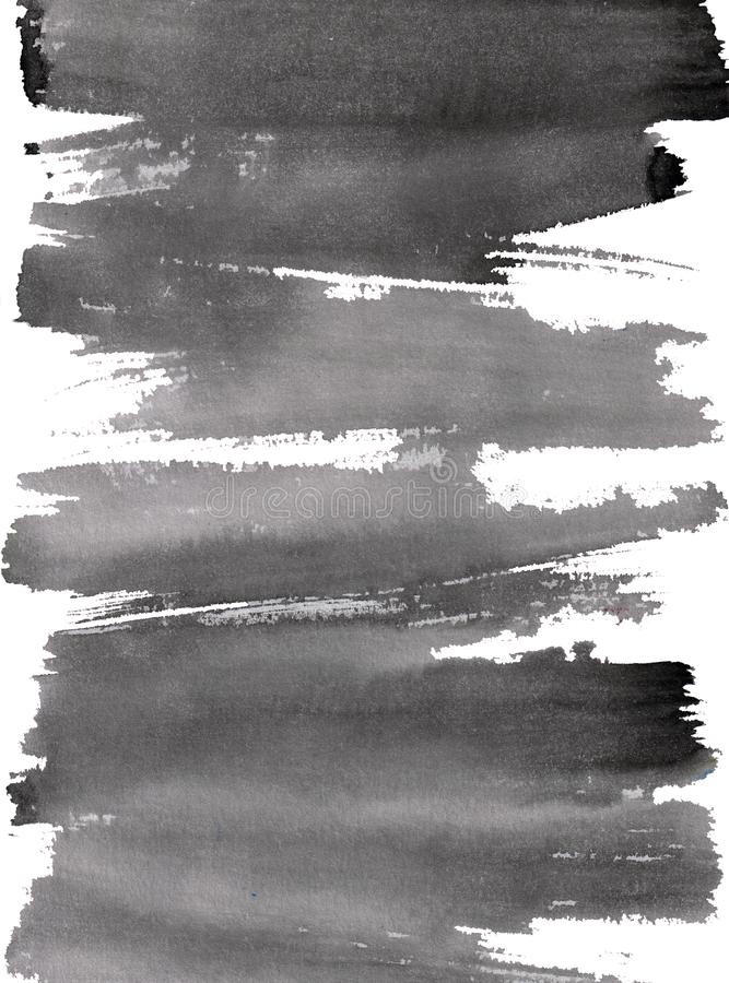 Pincelada dinamic caligráfica do dry ink preto ilustração stock