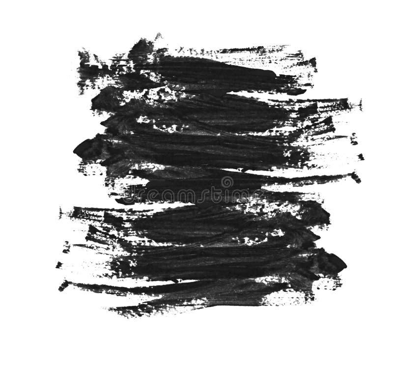 Pincelada negra foto de archivo libre de regalías