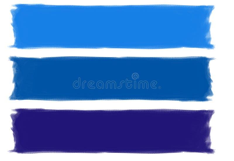 Pinceladas azules fotos de archivo libres de regalías