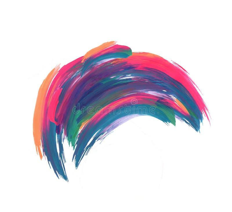 Pinceladas coloridas abstratas isoladas no fundo branco ilustração royalty free